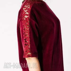 sukienki aksamit sukienka z bordowego weluru