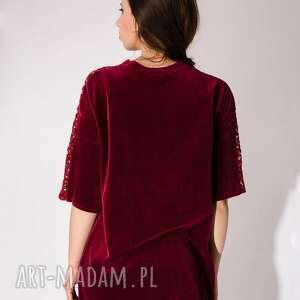 aksamit sukienki sukienka wykonana z bawełnianego weluru