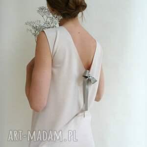 dzianina sukienki sukienka z dekoltem na plecach