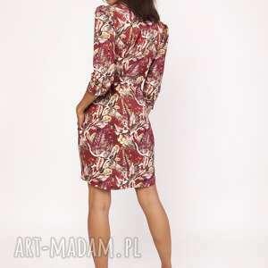 wyraziste sukienki sukienka z delikatną stójką, suk153