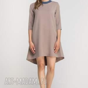 gustowne sukienki casual sukienka z dłuższym tyłem, suk148