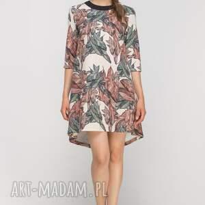 niesztampowe sukienki casual sukienka z dłuższym tyłem, suk148