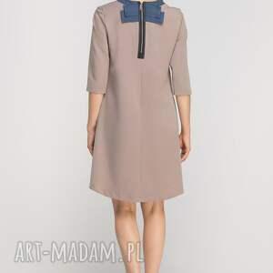 sukienki elegancka sukienka z dłuższym tyłem, suk148