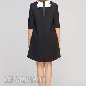 sukienki eleganckie sukienka z dłuższym tyłem, suk148