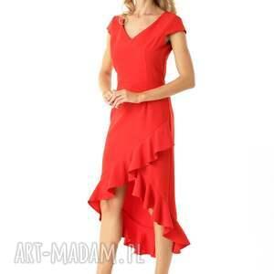sukienki koktajlowa-sukienka sukienka z dłuższym tyłem naomi