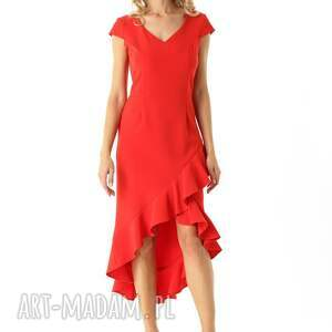 hand-made sukienki koktajlowa-sukienka sukienka z dłuższym tyłem naomi