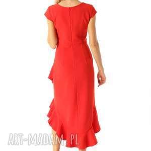 koktajlowa-sukienka sukienki sukienka z dłuższym tyłem naomi
