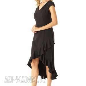koktajlowa sukienka sukienki z dłuższym tyłem naomi