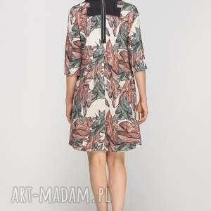 sukienki wzór sukienka z dłuższym tyłem, suk148