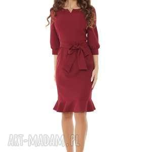 ręcznie robione sukienki elegancka-sukienka sukienka z dziubkiem i falbaną