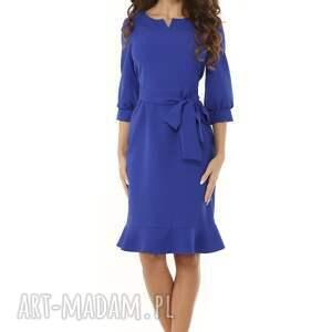 intrygujące sukienki sukienka z dziubkiem i falbaną
