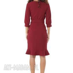 ręcznie robione sukienki modna-sukienka sukienka z dziubkiem i falbaną