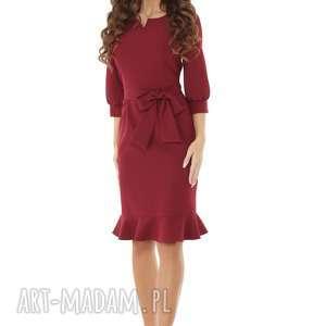 sukienki modna-sukienka sukienka z dziubkiem i falbaną