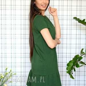 nietuzinkowe sukienki eko sukienka z falbaną s/m/l/xl