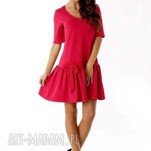 unikatowe sukienki sukienka-z-falbaną sukienka z falbaną i kokardą