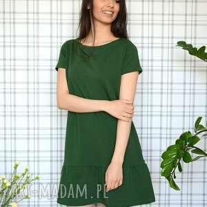 nietuzinkowe sukienki dzianina sukienka z falbaną s/m/l/xl