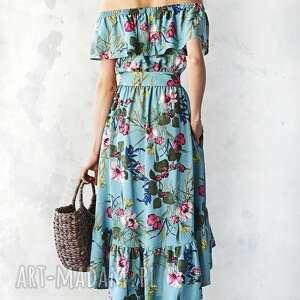 sukienki sukienka z falbaną w kwiaty