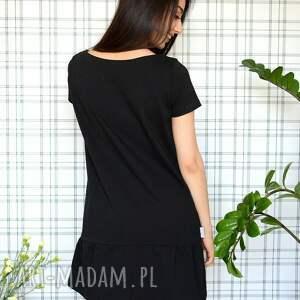 eko sukienki sukienka z falbaną s/m/l/xl czarna