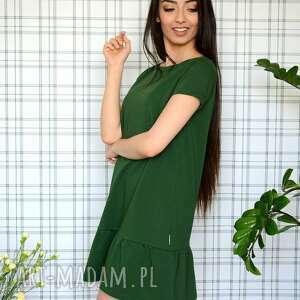 dzianina sukienki sukienka z falbaną s/m/l/xl