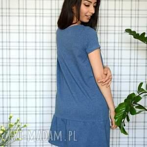 sukienki dzianina sukienka z falbaną s/m/l/xl