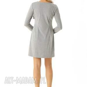 modna sukienka sukienki z falbanką przy dekolcie