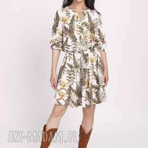 sukienki falbanka sukienka z falbanką, suk174 liscie