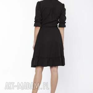 LANTI urban fashion sukienki zwiewna sukienka damska midi z delikatną stójką
