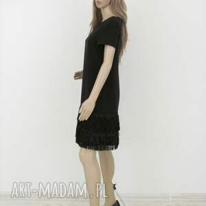 hand made sukienki sukienka z frędzlami