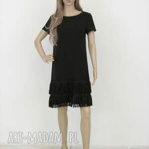 sukienki elegancka sukienka z frędzlami