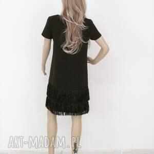 elegancka sukienki sukienka z frędzlami