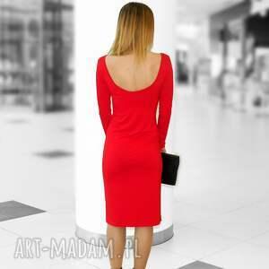 czerwone sukienki sukienka z głębokim dekoltem