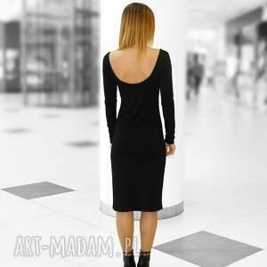 dopasowana sukienki sukienka z głębokim dekoltem