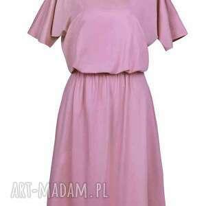 różowe sukienki sukienka z kieszeniami