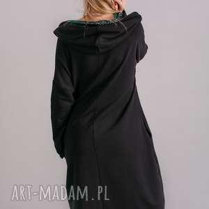 marynarka sukienki sukienka z kominem oversize czarna