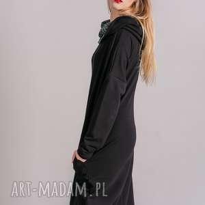 sukienki marynarka sukienka z kominem oversize czarna