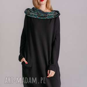 sukienki spódnice sukienka z kominem oversize czarna