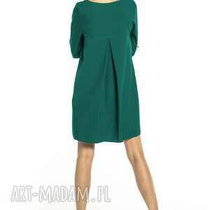 luźna sukienki sukienka z kontrafałdą na plecach