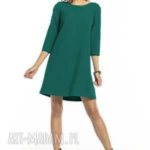 sukienki elegancka prosta sukienka z tkaniny z kontrafałdą