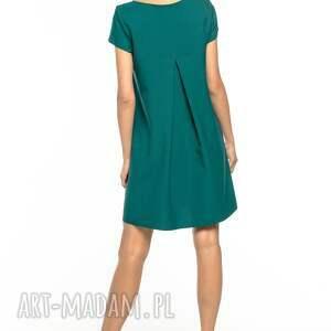 sukienki prosta sukienka z kontrafałdą na plecach