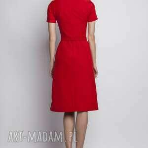 sukienki romantyczna sukienka z krótkim rękawem, suk128