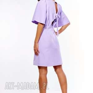 sukienki: Sukienka z luźną górą Diana liliowa - nietoperz wesele