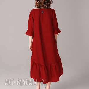 sukienki walentynki sukienka z marszczoną falbaną