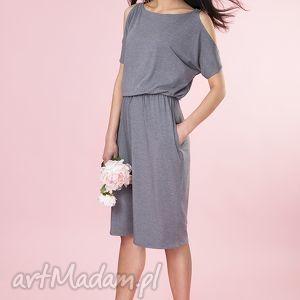 nietuzinkowe sukienki sukienka z odkrytymi ramionami
