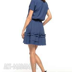 TESSITA sukienki sukienka z ozdobną falbanką