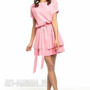 sukienki sukienka z podwójną spódnicą, t268,