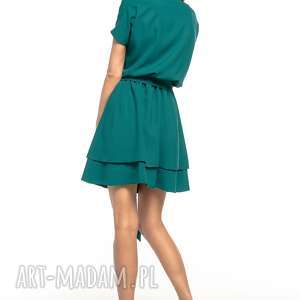 sukienki sukienka z podwójną spódnicą, t268