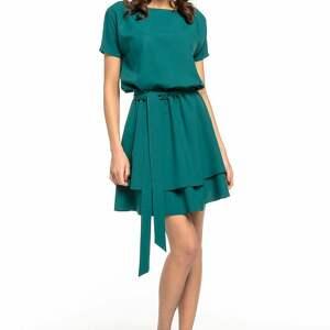modne sukienki elegancka sukienka z podwójną spódnicą, t268
