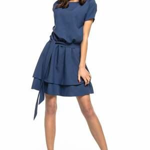 trendy sukienki elegancka sukienka z podwójną spódnicą, t268