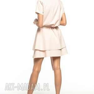 atrakcyjne sukienki elegancka sukienka z podwójną spódnicą, t268