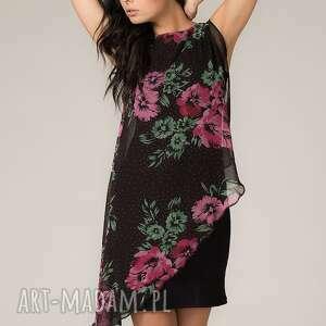 Sukienka z woalką Lila 2 - Ręczne wykonanie lekka